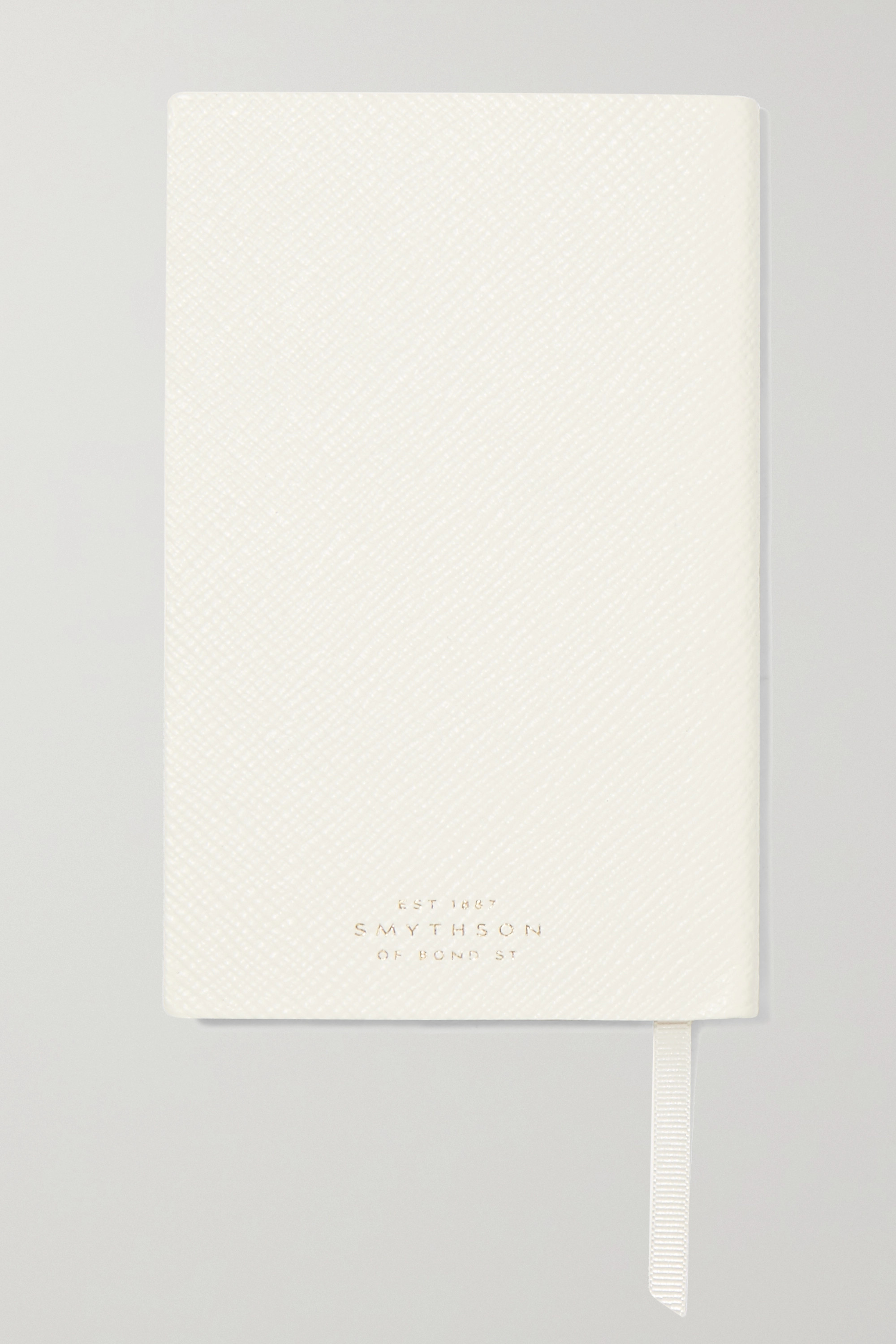 Smythson Set of two Panama Wedding and Honeymoon Planner textured-leather notebooks