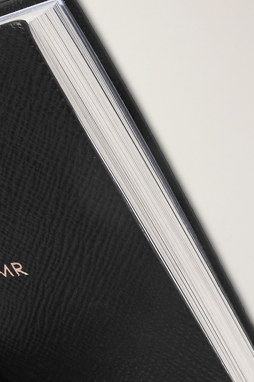 Smythson Panama Mr & Mrs Set aus zwei Notizbüchern aus strukturiertem Leder