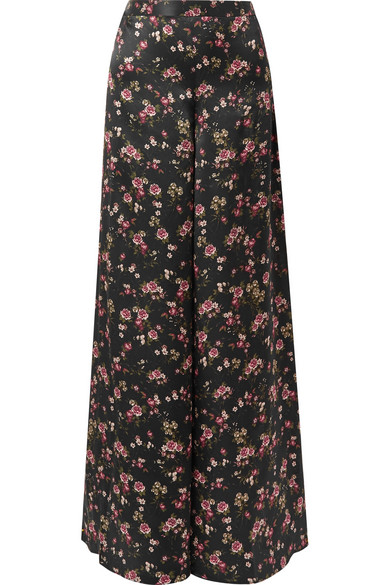 Cami Nyc THE TOMMY FLORAL-PRINT SILK-CHARMEUSE WIDE-LEG PANTS