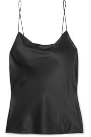The Axel draped silk-charmeuse camisole