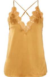 The Everly lace-trimmed silk-charmeuse camisole