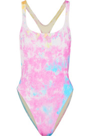 + RE/DONE The Venice cutout tie-dyed swimsuit