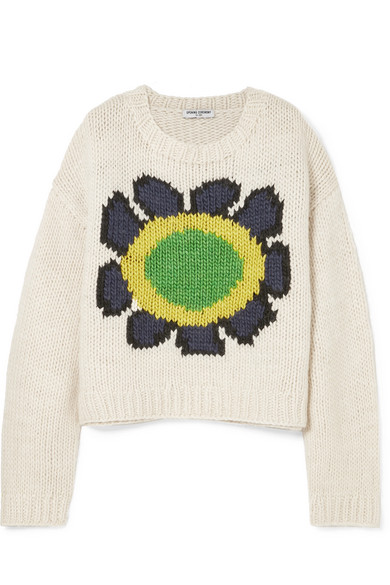Opening Ceremony Oversized Flower Chunky Sweater