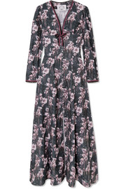 Irving floral-print cotton-corduroy maxi dress