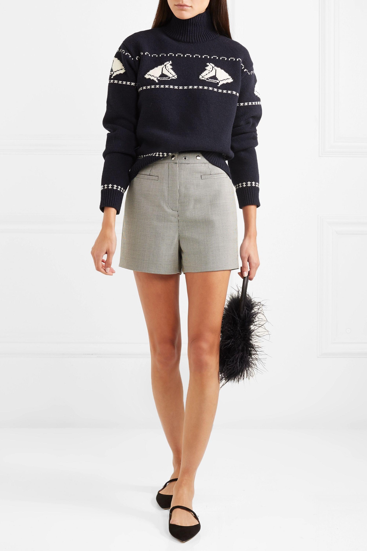 ALEXACHUNG Intarsia wool turtleneck sweater