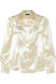 Hammered-satin shirt