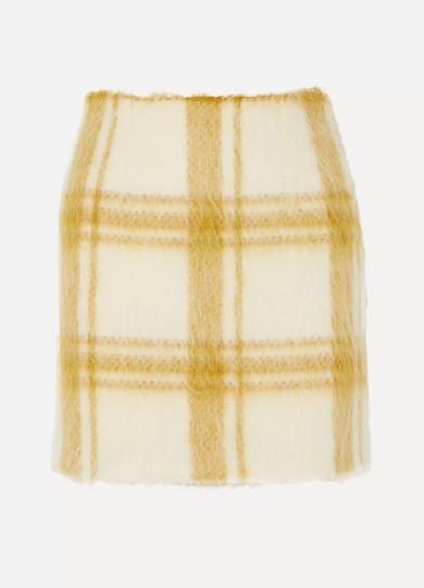 Alexa Chung Checked wool-blend felt mini skirt