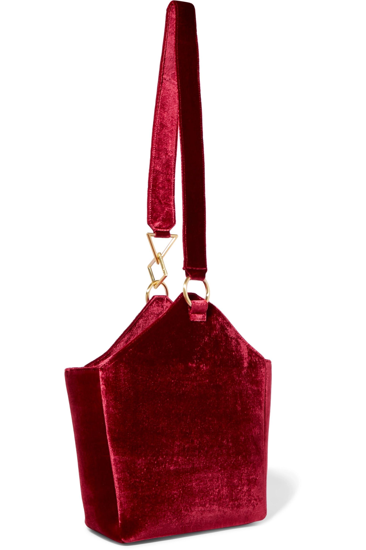 Tara Zadeh Arezu crushed-velvet shoulder bag