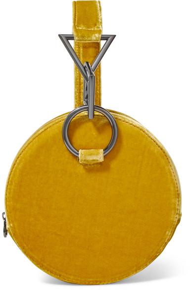 Yellow Azar Velvet Bracelet Bag