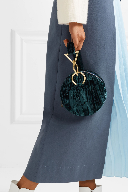 Tara Zadeh Azar crushed-velvet clutch