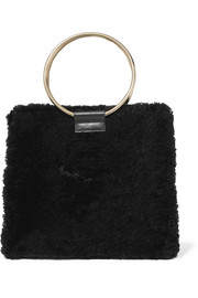 Roya shearling and leather tote