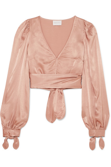 I Like That Cropped Satin Top