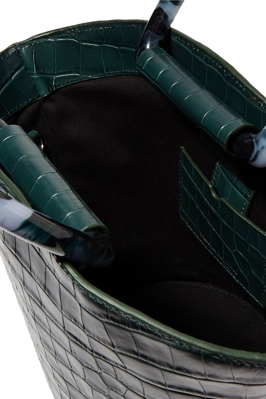 Loeffler Randall Agnes Fan croc-effect leather tote