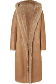 Olbia reversible hooded shearling coat