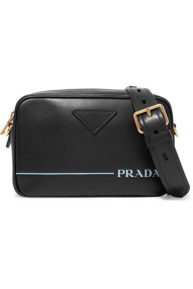Mirage Leather Camera Bag by Prada