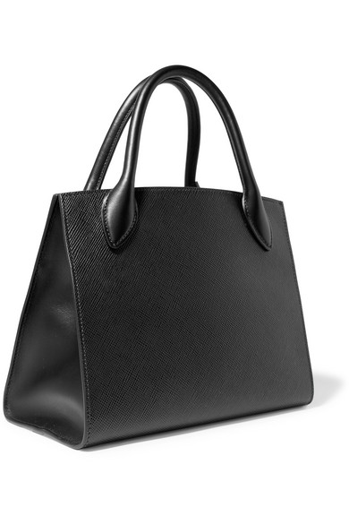 3abe02ffde Prada | Monochrome embellished textured-leather tote | NET-A-PORTER.COM