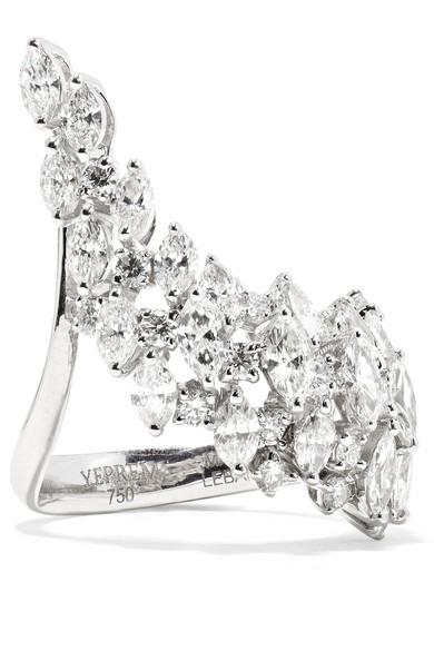 YEPREM 18-Karat White Gold Diamond Ring
