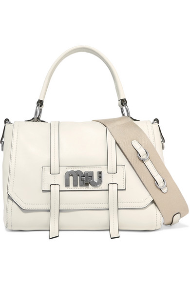 Miu Miu - Grace Leather Shoulder Bag - White