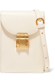 Josephine textured-leather shoulder bag