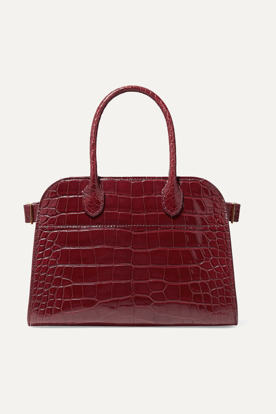 The Row Margaux 10 buckled alligator tote