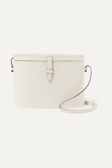 HUNTING SEASON Trunk Lizard Shoulder Bag in Ivory
