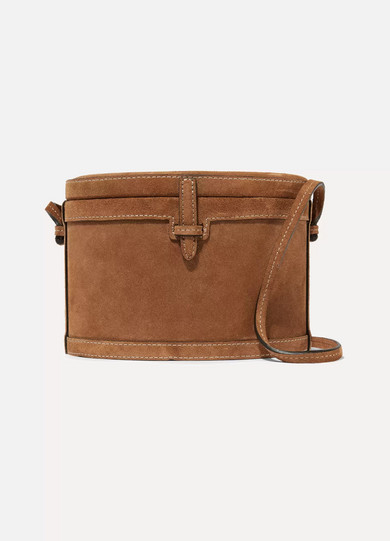 HUNTING SEASON Trunk Suede Shoulder Bag in Tan