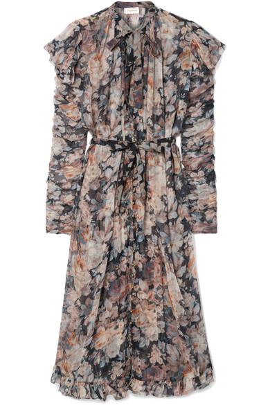 df3708eeb6f83 Zimmermann | Tempest Frolic ruffled floral-print silk-georgette midi ...