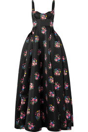 Emilia Wickstead Floral-print satin gown