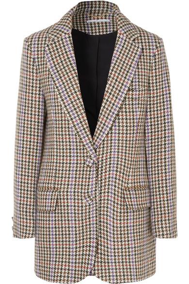 EMILIA WICKSTEAD Michelle Houndstooth Tweed Blazer in Gray