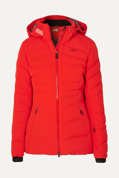 KJUS Duana Quilted Down Ski Jacket in Red