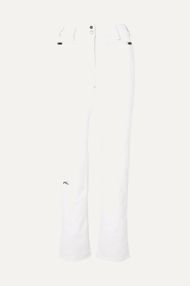 KJUS Sella Jet Slim-Leg Ski Pants in White
