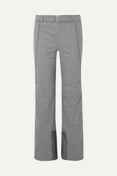 KJUS Naira Paneled Stretch Wool-Blend Ski Pants in Gray