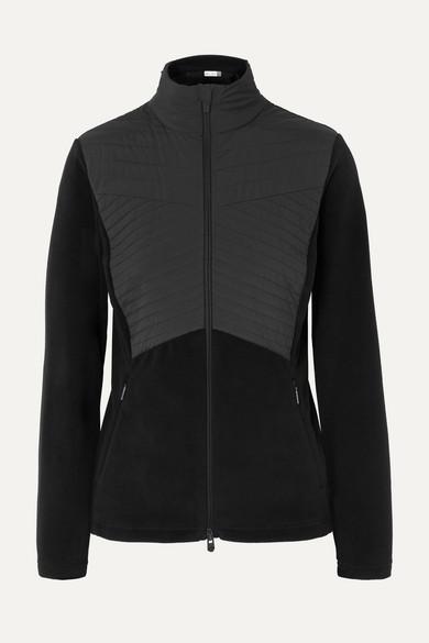 KJUS Scylla Quilted Paneled Fleece Ski Jacket in Black