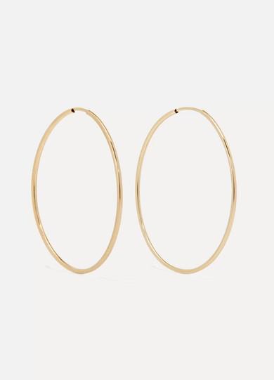 LOREN STEWART Nakita 14-karat gold hoop earrings