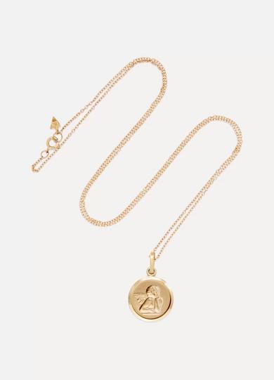 LOREN STEWART Angel 14-karat gold necklace