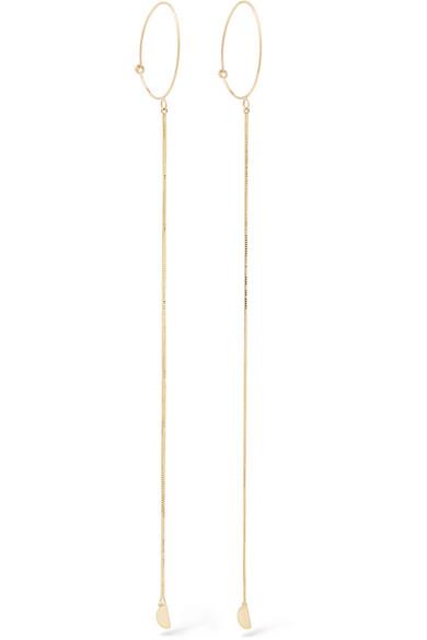 LOREN STEWART Fairy Floss 14-karat gold earrings