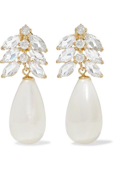 LOREN STEWART Aura 14-karat gold multi-stone earrings