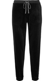 After Hours stretch-velvet track pants