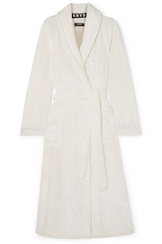 Signature embroidered terry robe