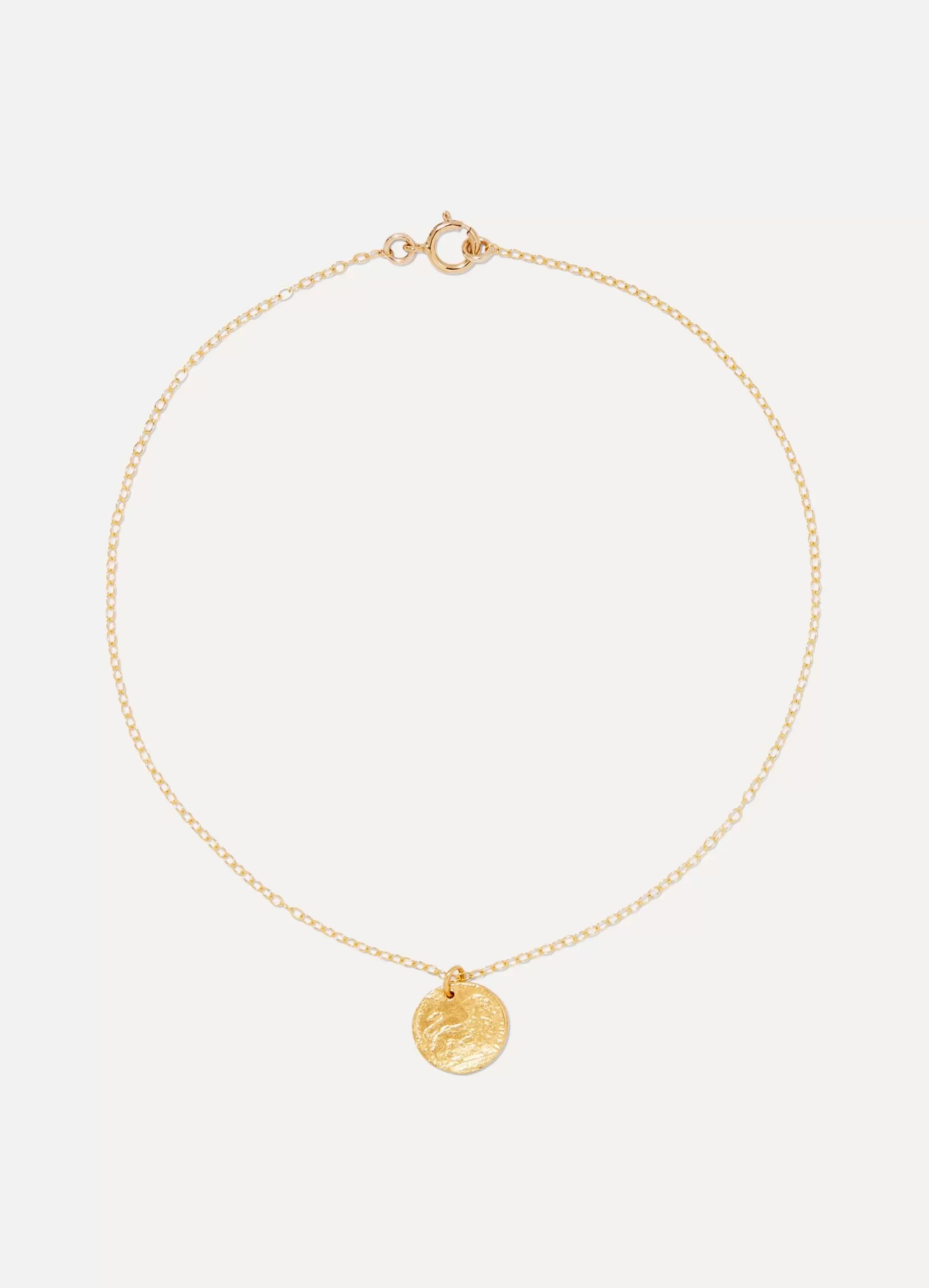 Alighieri Baby Lion gold-plated anklet