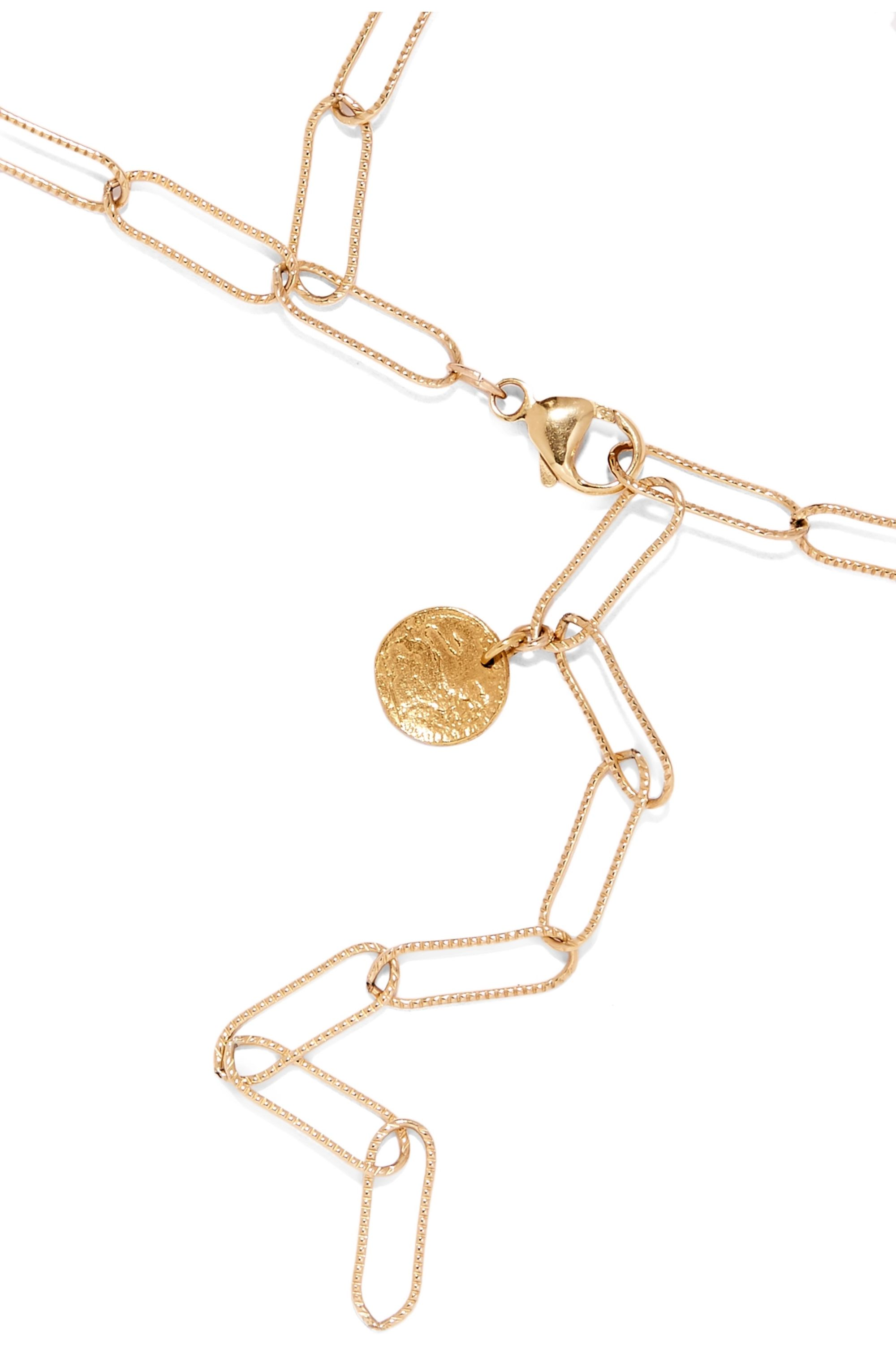 Alighieri Dante and The World gold-plated necklace