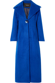 Belle brushed wool-blend coat
