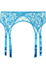 Myla Columbia Road embroidered tulle suspender belt