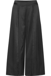 Myla Covent Garden cropped stretch-silk satin wide-leg pants