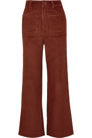 Fonda cotton-corduroy straight-leg pants