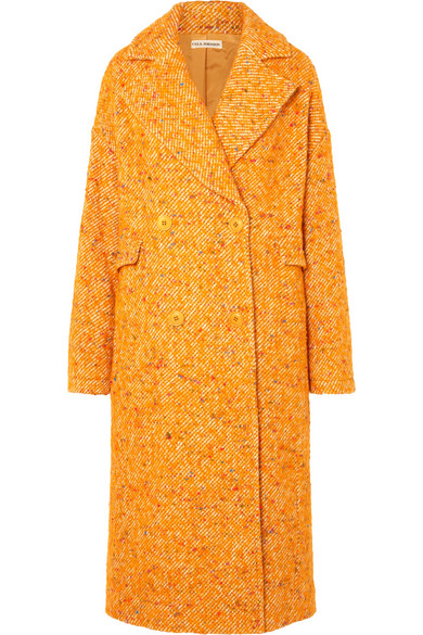 Ulla Johnson - Frances Double-breasted Bouclé-tweed Coat - Yellow