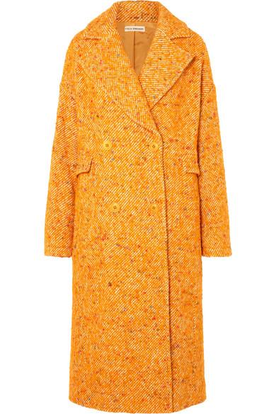 Ulla Johnson - Frances Double-breasted Bouclé-tweed Coat - Yellow