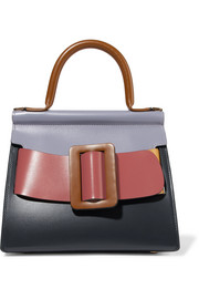 Karl 24 buckled color-block leather tote