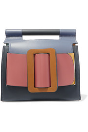Romeo buckled color-block leather clutch