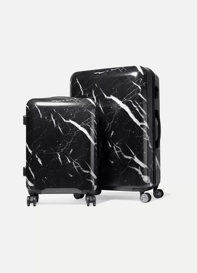 CALPAK - Astyll Marbled Hardshell Suitcase Set - Black